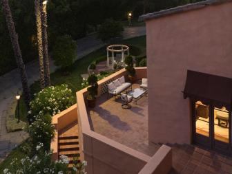 Terrace Entertaining at Beverly Hills Estate