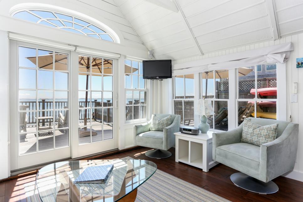 Living Room and Deck View