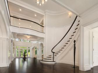 Beautiful Foyer in Magnificent Manor with Grand Staircase