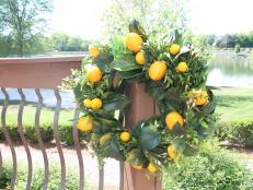 Add a little zest to your front door this summer with a vibrant, citrusy wreath. Because when life gives you lemons, craft them into a wreath.