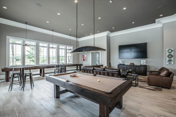 Gray Transitional Game Room