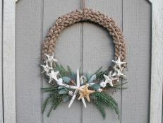 Bring the serene seaside to your front door with this easy-to-make, nautical-inspired wreath. Jute rope and seashells combine for a fun weekend project that'll have you ready to dive headfirst into summer.