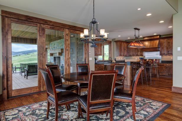 Craftsman Great Room Dining Area Includes Southwestern Elements
