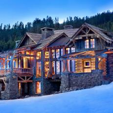 Rustic Chic, Mountainside Retreat Exterior
