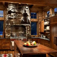 Rustic Chic Chef's Kitchen