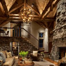 Grand Rustic Chic Great Room
