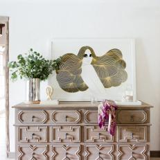 Mediterranean Dresser and Yellow Art