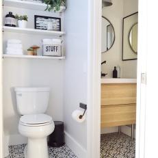 Small Bathroom With Black Floor