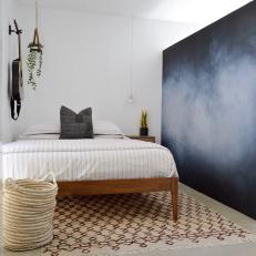 Contemporary Boy's Bedroom With Chalkboard Wall