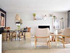 Contemporary Neutral Great Room With Banquette