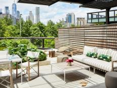 Outdoor Deck With Cityscape Views