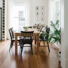 Country Dining Room With Black Chairs