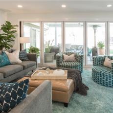 Gray Midcentury Modern Living Room Photos | HGTV