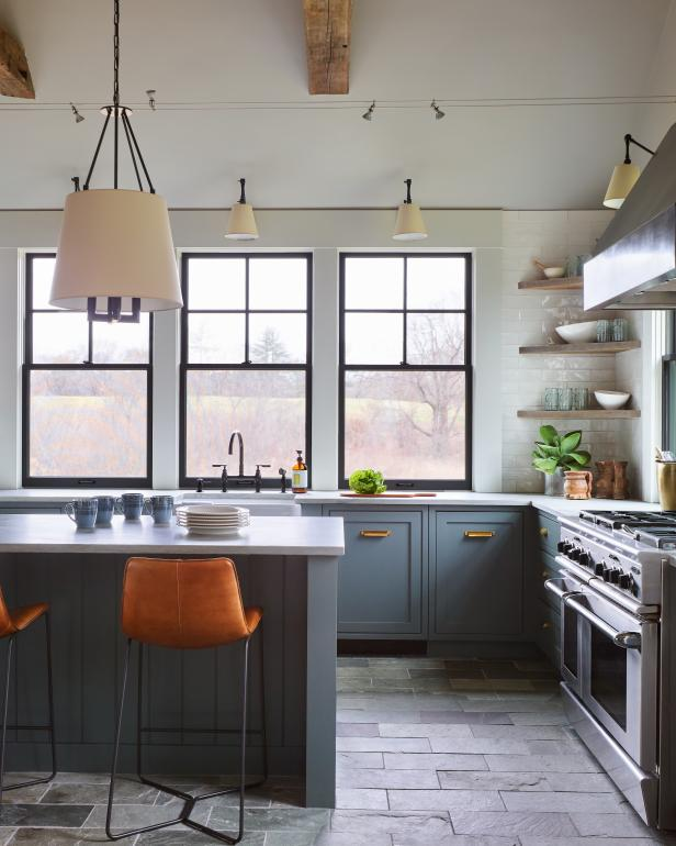 Gray Country Kitchen
