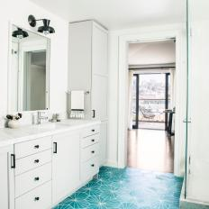 Geometric Guest Bathroom