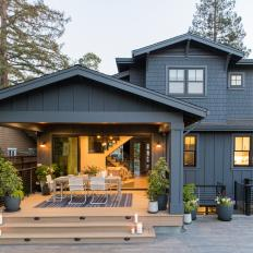 Gray Exterior and Covered Porch