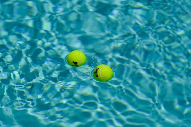 Tennis Balls Cleaning Pool