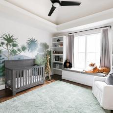 Nursery Design with Nature Mural
