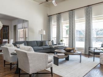 Neutral Living Room With Textures Abound
