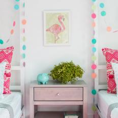 Multicolored Girls' Room With Garland