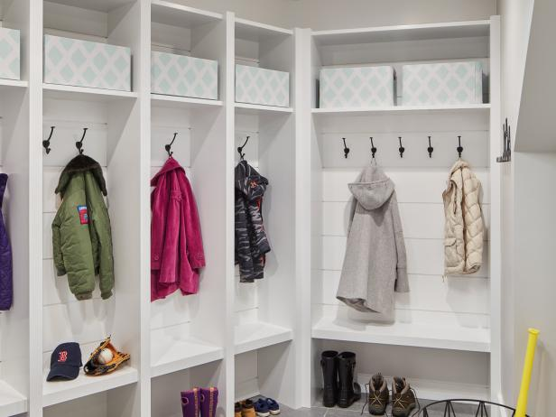 Mudroom with a Touch of Shiplap