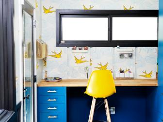 Laundry Room/Craft Room Offers Place to Have Fun With Design and Color