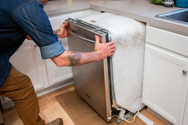 You don't need a professional to remove a dishwasher.