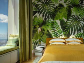 Green And Yellow Guest Room