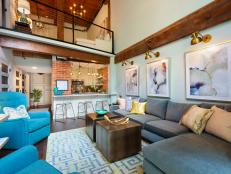Modern Condo Great Room with Loft Living Space