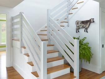 White Stairs and Cow Art