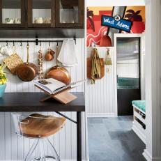 Vintage Kitchen With Graffiti-Inspired Mudroom