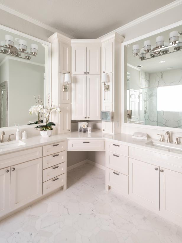 Bathroom Corner Double Vanity Hgtv