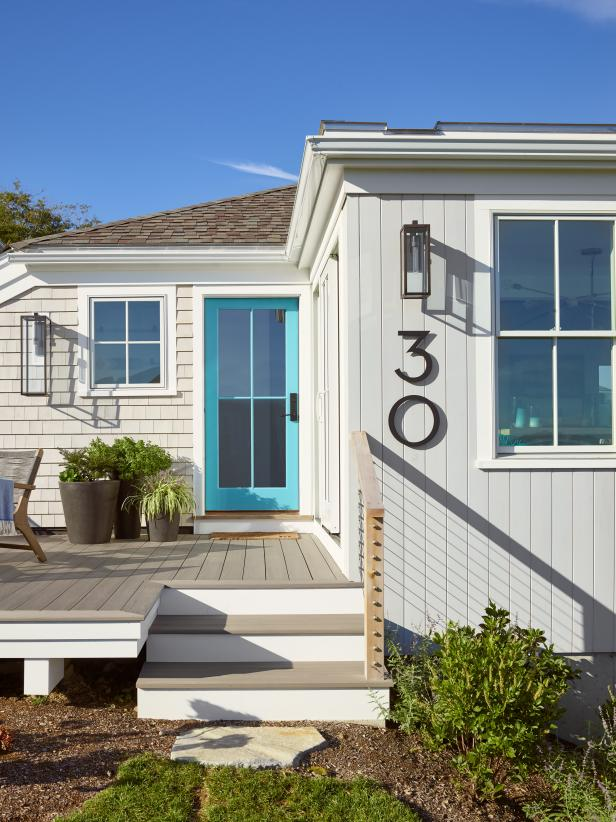 Small Beach Cottage with Blue Door