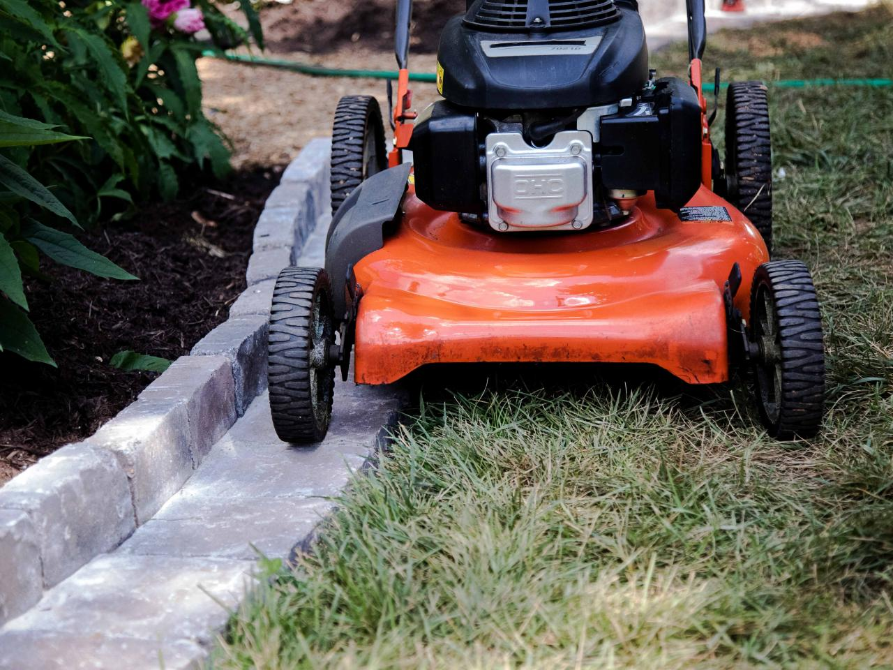 Diy Paver Edging You Can Mow Hgtv