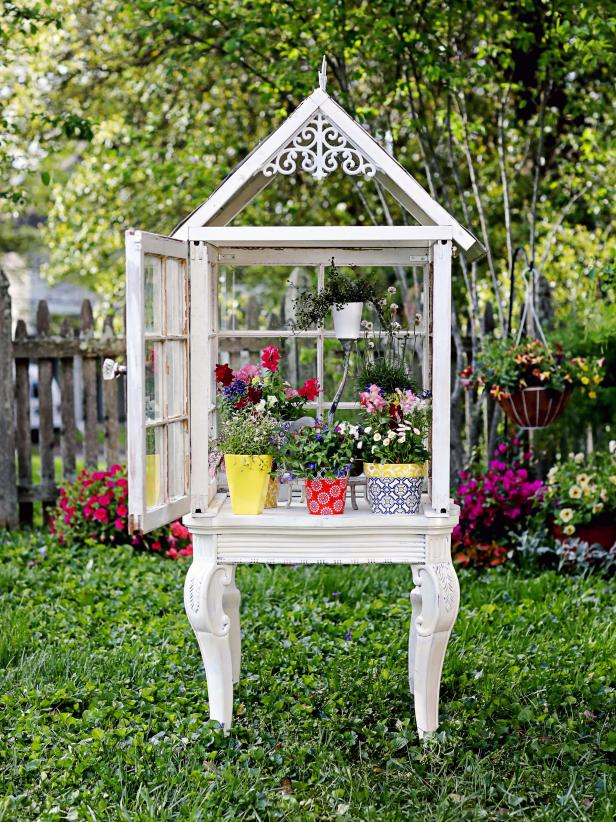 Turn Old Windows Into a Gorgeous Garden Greenhouse