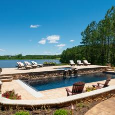 Lakefront Swimming Pool and Patio