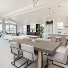 Modern Open Plan Kitchen, Dining And Living Space