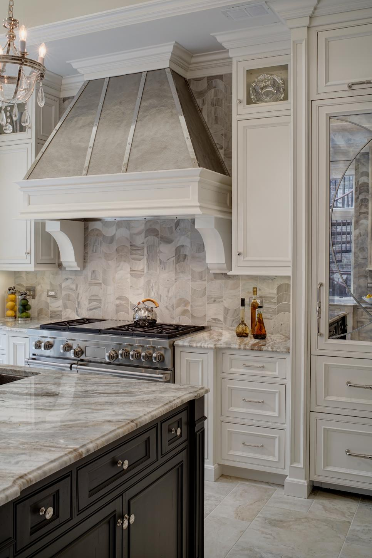 Traditional Kitchen With Wavy Marble Backsplash Hgtv