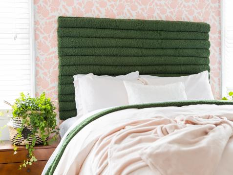 How to Make a DIY Tufted Headboard From Pool Noodles