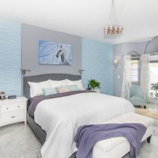 Transitional Master Bedroom With Horse Art