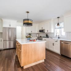 Neutral Kitchen With Oak Island