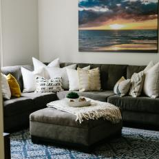 Transitional Living Room With Beach Photo