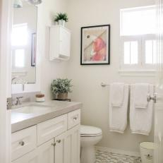 Small Bathroom With Gray Countertop