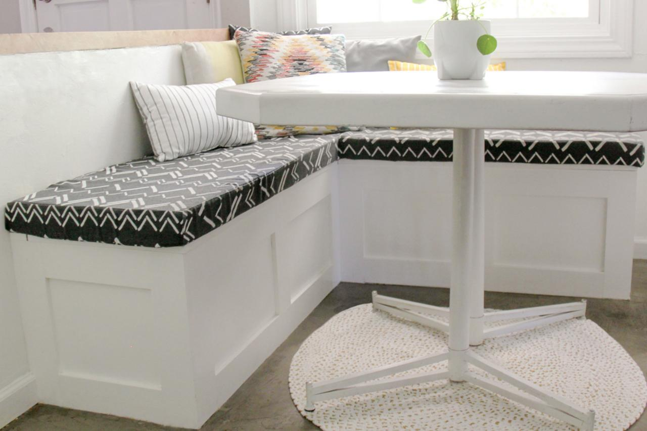 Picture of: How To Build A Banquette Seat With Built In Storage Hgtv