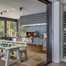Outdoor Kitchen and Pocket Door