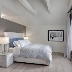 Gray Contemporary Bedroom With Cloud Bed
