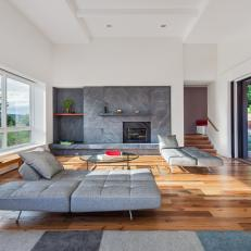 Modern Living Room With Gray Chaises