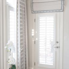 Blue and White Window Treatments