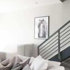 Horse Art and Stair Railing
