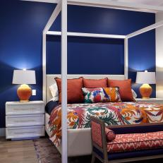 Bold Blue Guest Bedroom